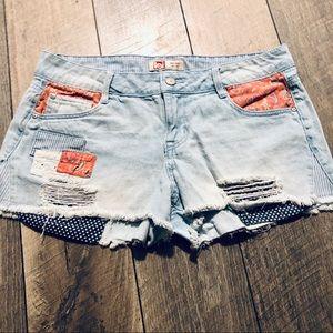 L.e.i. Ashley style Jeans shorts sz 9 jrs